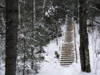 Escalier du Belvédère en hiver