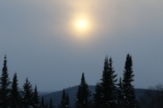 Soleil par un grand froid d'hiver