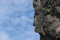 Visage en profil sur le Cap à l'aigle